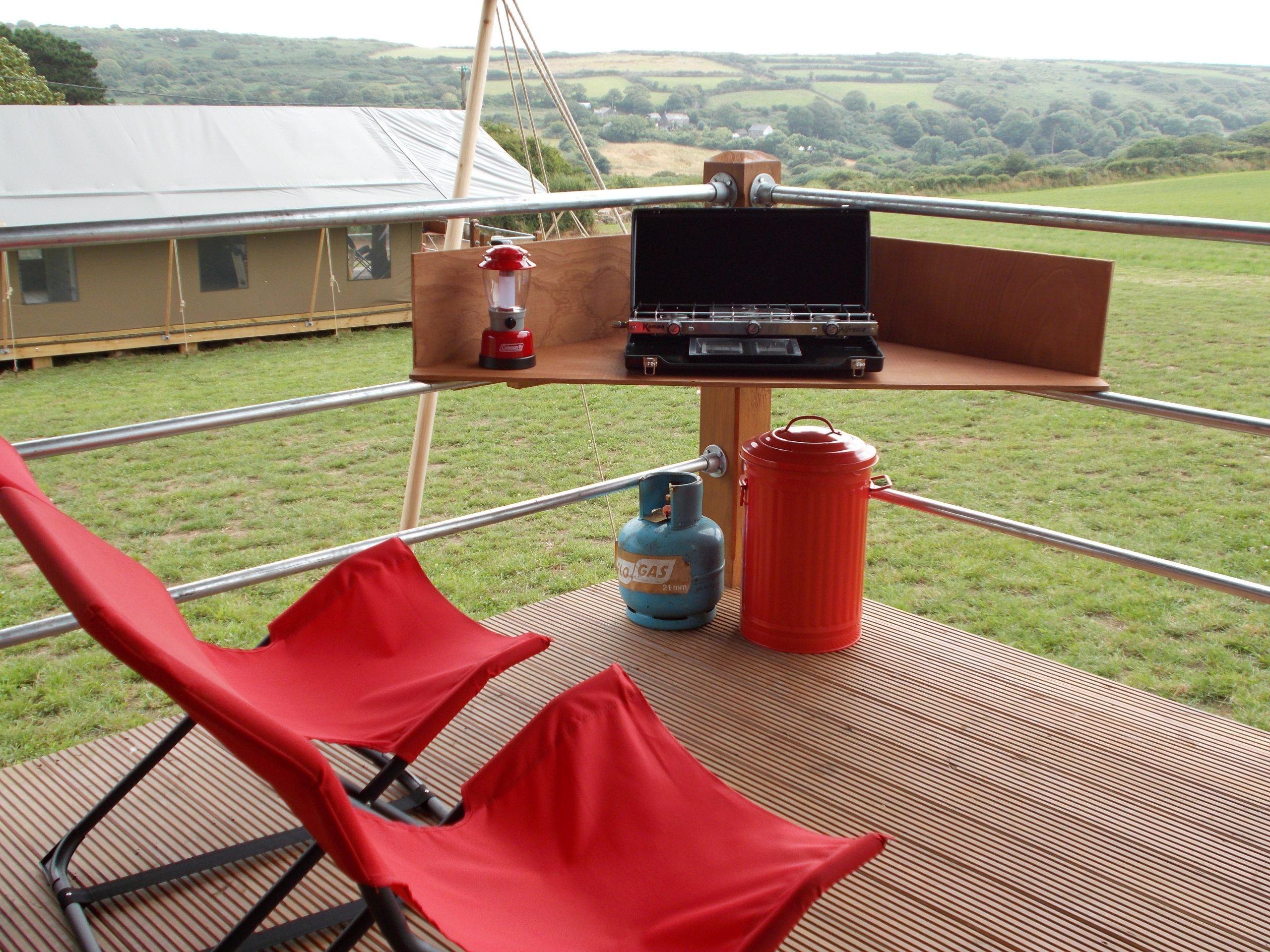 Safari tent patio